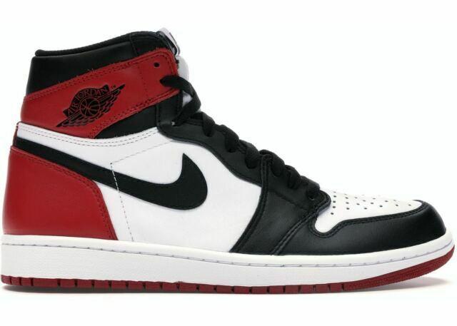 activación Laboratorio juez  Nike 555088125 Air Jordan Retro 1 High OG Athletic Shoes for  Men-White/Black/Ted for sale online | eBay