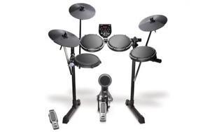 Alesis-DM6-USB-Kit-e-Drumset-MIDI-Schlagzeug-Set-Dual-Zone-Snare-Pad