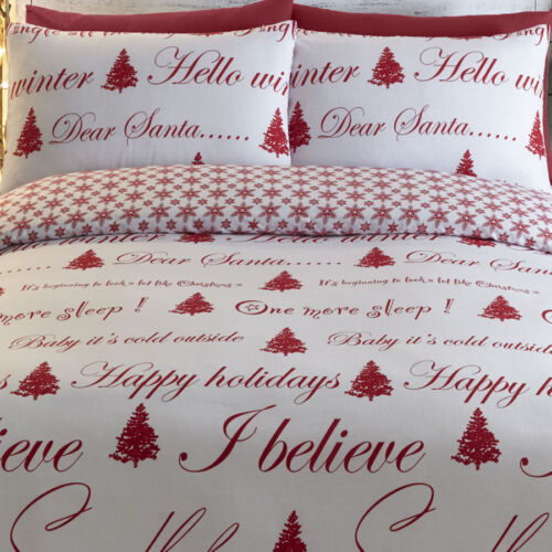 Red Its Christmas King Size Bedding