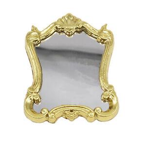 AU-1-12-European-Frame-Mirror-Toy-Doll-House-Miniature-Bedroom-Furniture-Wardro