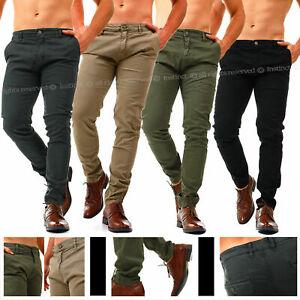 Pantaloni-Uomo-Invernali-Slim-Fit-Chino-Eleganti-Classici-da-Ufficio-in-Cotone