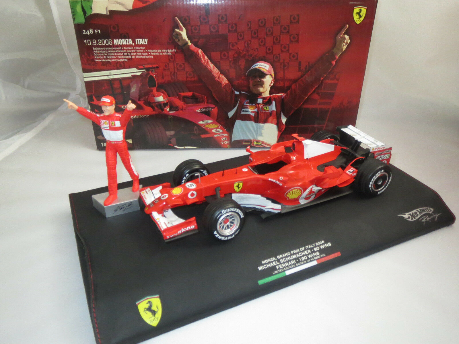 Hot wheels f1 Ferrari 248 Michael schumacher  10.09.2006 Monz,  en 1 18, rar