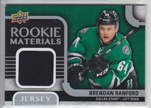 2015-16-UD-SERIES-BRENDAN-RANFORD-RC-JERSEY-ROOKIE-MATERIALS-Upper-Deck-Stars