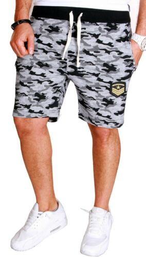 Herren Bermuda Short Capri Hose kurze 3//4 Sommer Army Tarn Camouflage Neu B1.9