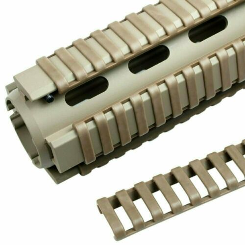 "8 PCS 7/"" Ladder Covers Dark Tan Quad Rail Cover Set 24 PCS Snap on Covers"