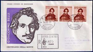1963-FDC-Venetia-Belli-Lire-30-Viaggiata-per-raccomandata-n-208It