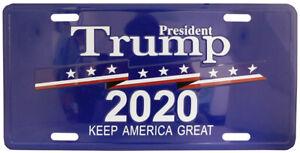 "President Trump 2020 Keep America Great Blue 6""x12"" License Plate USA Made"
