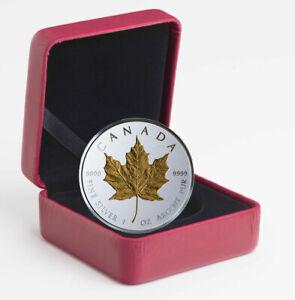2019-Canada-1-oz-Silver-Maple-Leaf-Incuse-Gilt-Reverse-Proof-20-OGP-SKU57226