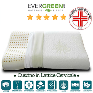 CUSCINO-GUANCIALE-ORTOPEDICO-IN-LATTICE-NATURALE-RELAX-OTTIMO-PER-CERVICALE-FLEX