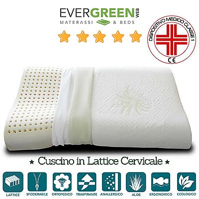 Generoso Cuscino Per Letto, Guanciale Lattice Naturale Cervicale Aloe Vera Ortocervicale Quell Summer Thirst