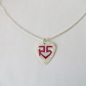 R5 R5 ROSS RYDEL RIKER guitar pick plectrum SILVER TONE CURB CHAIN NECKLACE 24034 - Yorkshire, United Kingdom - R5 R5 ROSS RYDEL RIKER guitar pick plectrum SILVER TONE CURB CHAIN NECKLACE 24034 - Yorkshire, United Kingdom