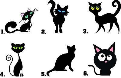Waterslide Nail Decals Set of 20 - Cute Black Cat Kitty