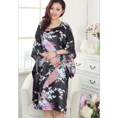 cacde12723b New Women Silk Satin Peacock Sleepwear Robes Nightdress Pajamas Bridesmaid  Robe