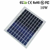 10w Poly Solar Panel Module 12v 12 Volt Battery Charger Off Grid, Rv, Boat, Gate