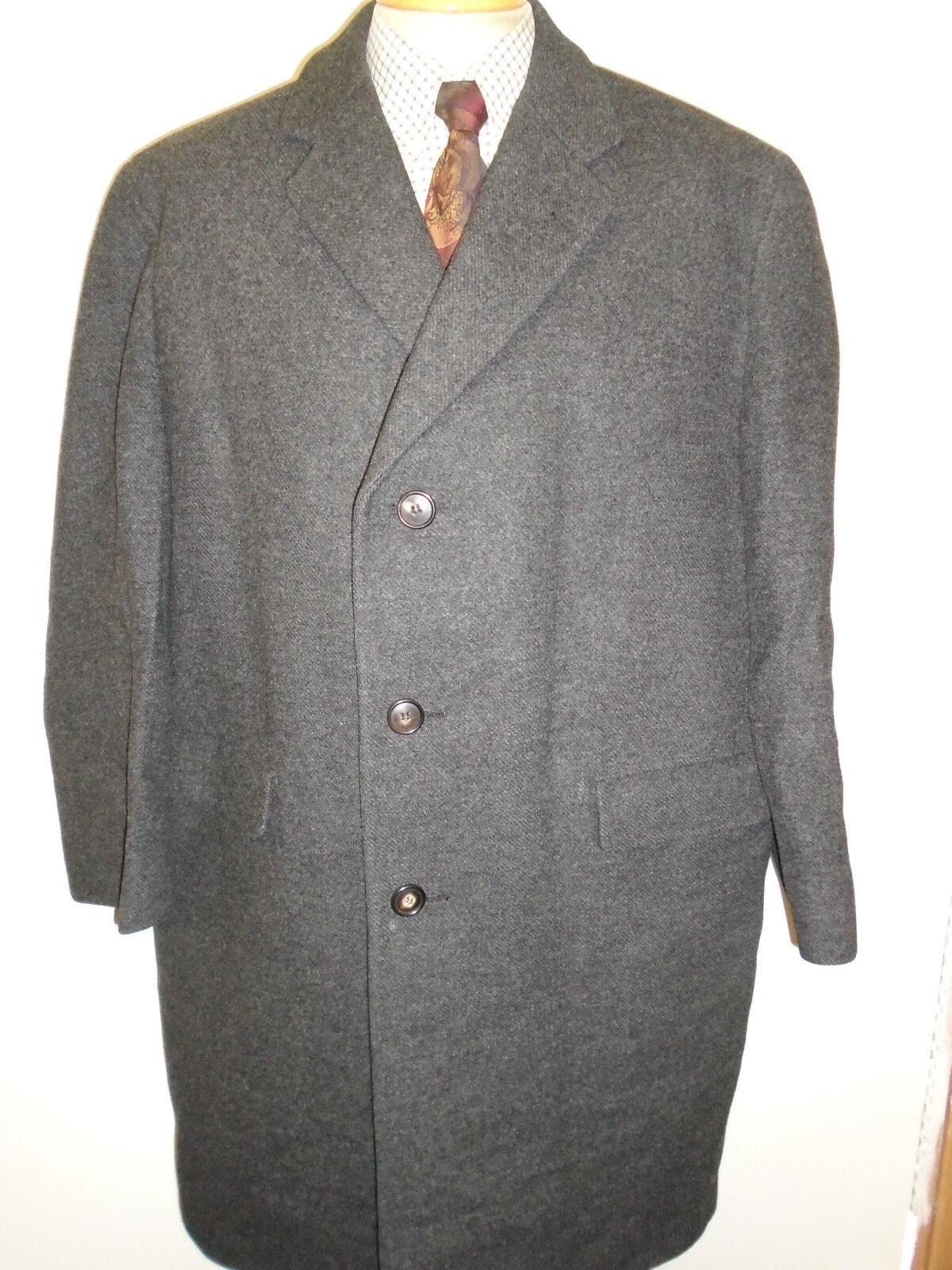 Genuine Vintage Crombie Wool Winter Winter Winter Coat Mac Größe 46  Euro 56 R - Charcoal grau | Die Königin Der Qualität  bf1a6e