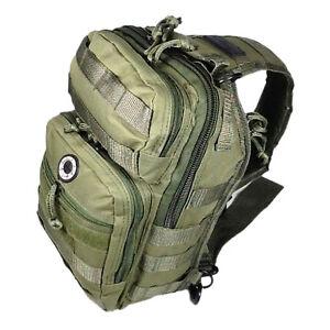 12-034-800cu-in-NexPak-Tactical-Sling-Shoulder-Hiking-Backpack-TL312-ODGN-GREEN