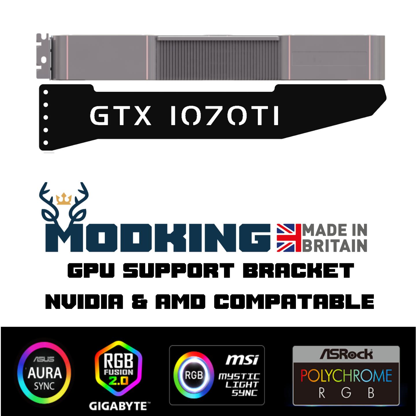 GTX 1070TI - ARGB GPU Graphics Card Sag Support Bracket Brace gtx RTX AMD NVIDIA