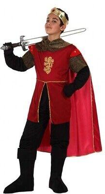 Ragazzi Re Medievale Cavaliere Carnevale Halloween Costume Vestito 3-12yrs-mostra Il Titolo Originale