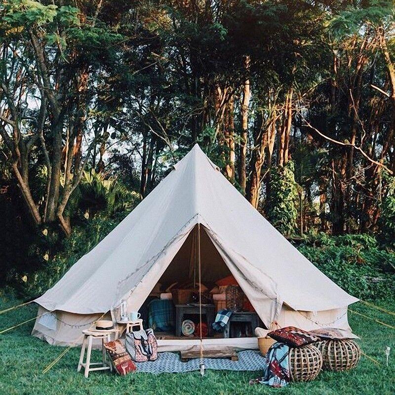 3 4 5 6M Wasserfest Canvas Bell Tent Steel Beach Anchors for Camping Bell Zelt