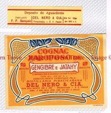 1940s BRASIL Sao Paulo Del Nero COGNAC XAROPOSO de GENGIBRE e JATAHY Label set
