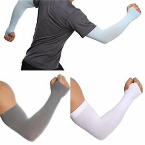 Outdoor Cooling Arm Sleeves Hand Cover UV Sun Protection for Cycling Sport LG