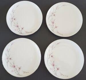 Norcrest-Japan-Spring-Blossom-Dessert-Plates-Set-of-Four-4-6-1-4-034-Fine-China