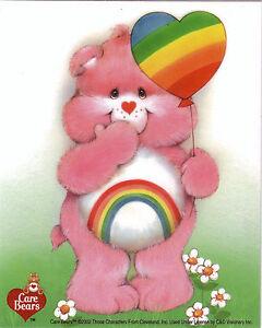 Care-Bear-Rainbow-cheer-Licensed-Sticker-no-longer-made