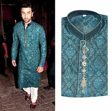 New Fashion Men Pakistan Indian Kurta Shalwar Fancy Eid Wedding Party