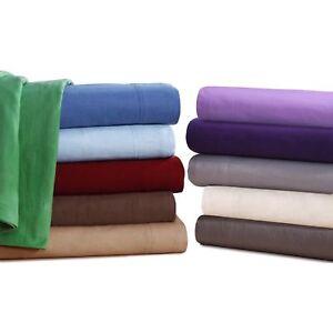 Queen Flannel Sheets 5 Oz Deep Pocket Ultra Soft Sheet Set 100 Cotton Colors Ebay