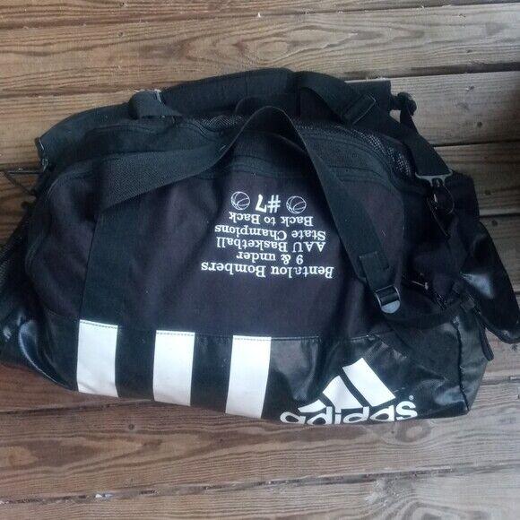 adidas Defender III Duffel Bag Black/white Large