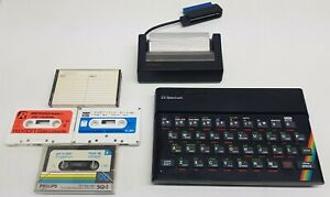 Sinclair-Spectrum-Printer-tapes-and-extra-empty-shell-Tested-amp-Working-Rare