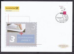 BRD 2012 Deutsche Post FDC MiNr. 2967 selbstklebend  Freimarke Ziffernzeichnung