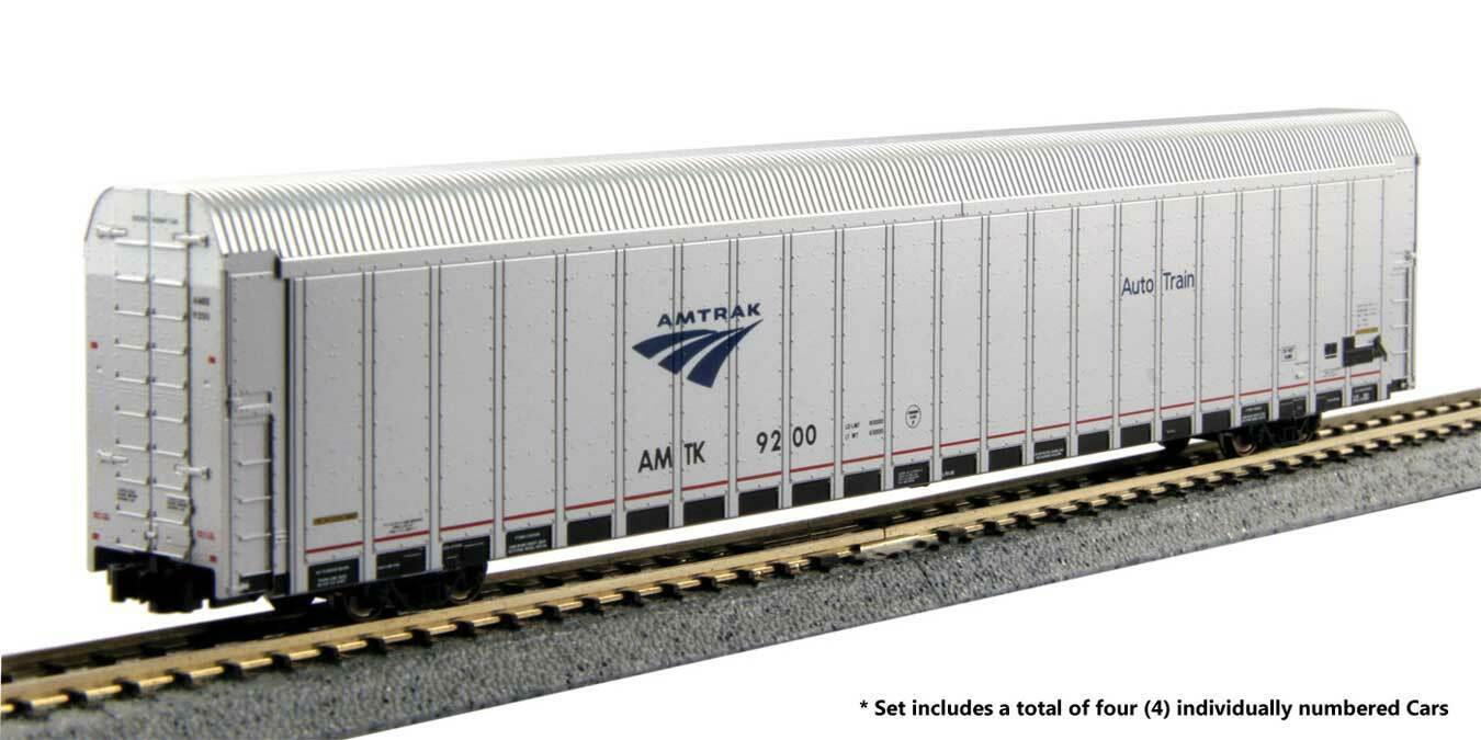 Spur N - Kato Set Auto voiturerier Set  3 Amtrak 4 Wagen -- 106-5505 NEU