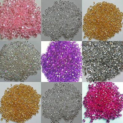 Or Rose Strass Cristaux Mariage//Table De Fête Décoration Confettis Décoration 6 mm
