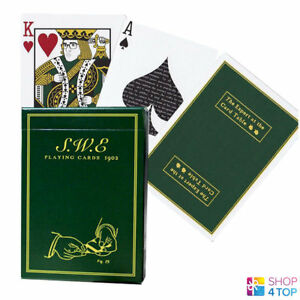 SWE-GREEN-ELLUSIONIST-BICYCLE-PLAYING-CARDS-DECK-ERDNASE-MAGIC-TRICKS-USPCC-NEW