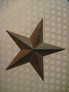 """12/"""" Rustic Barn Star Metal Primitive"""