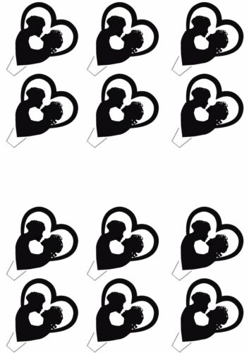 Civil Gay Wedding Edible Cup Cake Toppers Fairy Decorations Anniversary Female