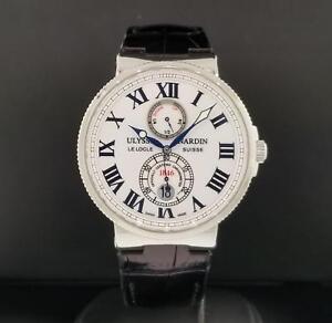 a1abff5fe1691 Ulysse Nardin Marine Chronometer Ref. 263-67 40 S  Steel 43mm White ...