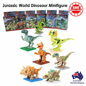 Jurassic-World-Park-Dinosaur-Minifigures-Building-Brick-Toy-Kid-LEGO-compatible