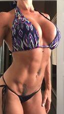 BECCA SWIMWEAR D-DD-DDD Bikini Top HALTER STYLE NO PADS NWT FUN L@@K!