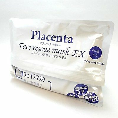 Placenta Face rescue mask EX 40 pieces Facial Beauty Mask from Japan F/S