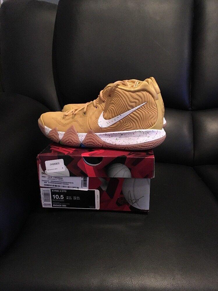 Brand New Size 10.5 Mens Nike Kellogg's Cinnamon Toast Crunch Kyrie 4 gold
