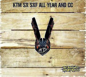 KTM-SX-SXF-65-85-125-250-450-Front-Mudguard-Graphics-Stickers-Decals-CARD