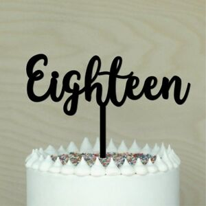Image Is Loading 18 Cake Topper Happy 18th Eighteen Birthday