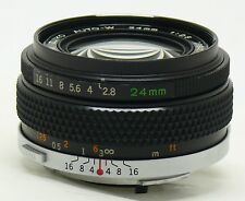Olympus OM system 24mm f/2.8 Zuiko Auto-W manual focus lens EXC+