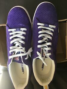 PUMA X UNDEFEATED CLYDE GAMETIME LA LAKERS VIOLET WHITE TEAM YELLOW ... 1f9f360fe