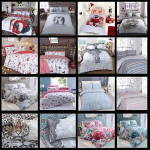 Christmas-Kids-Duvet-Cover-amp-Pillow-Case-Stylish-Easy-Care-Single-Double-King