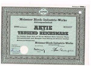 Meissner-Blech-Industrie-Werke-AG-Meissen-1941-1000-RM
