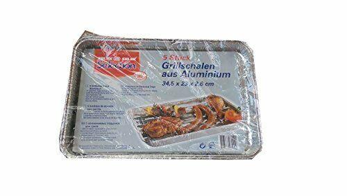 Selection Aluminium Grillschalen Grillzubehör Grillen 5 Stück