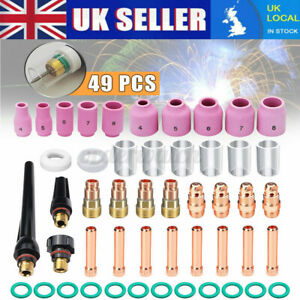 23 pcs TIG Welding Stubby Gas Lens #10 Pyrex Cup Kit  for Tig WP-17//18//26 Torch